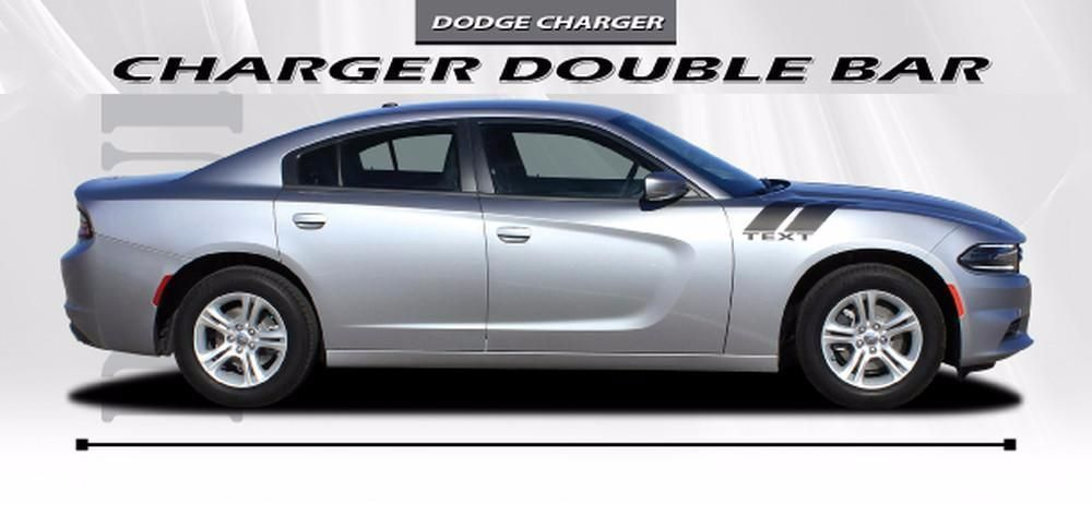 2015 2021 Dodge Charger Double Bar 15 Hood Hash Marks Mopar Factory Style Vinyl Graphics 3m Stripes Kit Dodge Charger Stripe Kit Vinyl Graphics