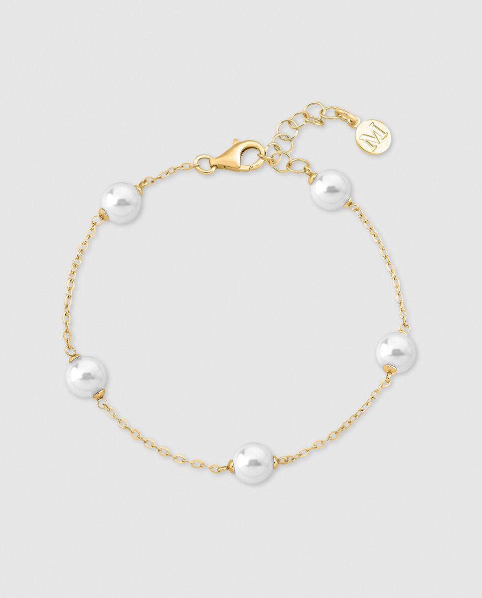 4f245e21a7fa Pulsera Majorica Ilusión de plata dorada con perlas blancas · Majorica ·  Moda · El Corte Inglés