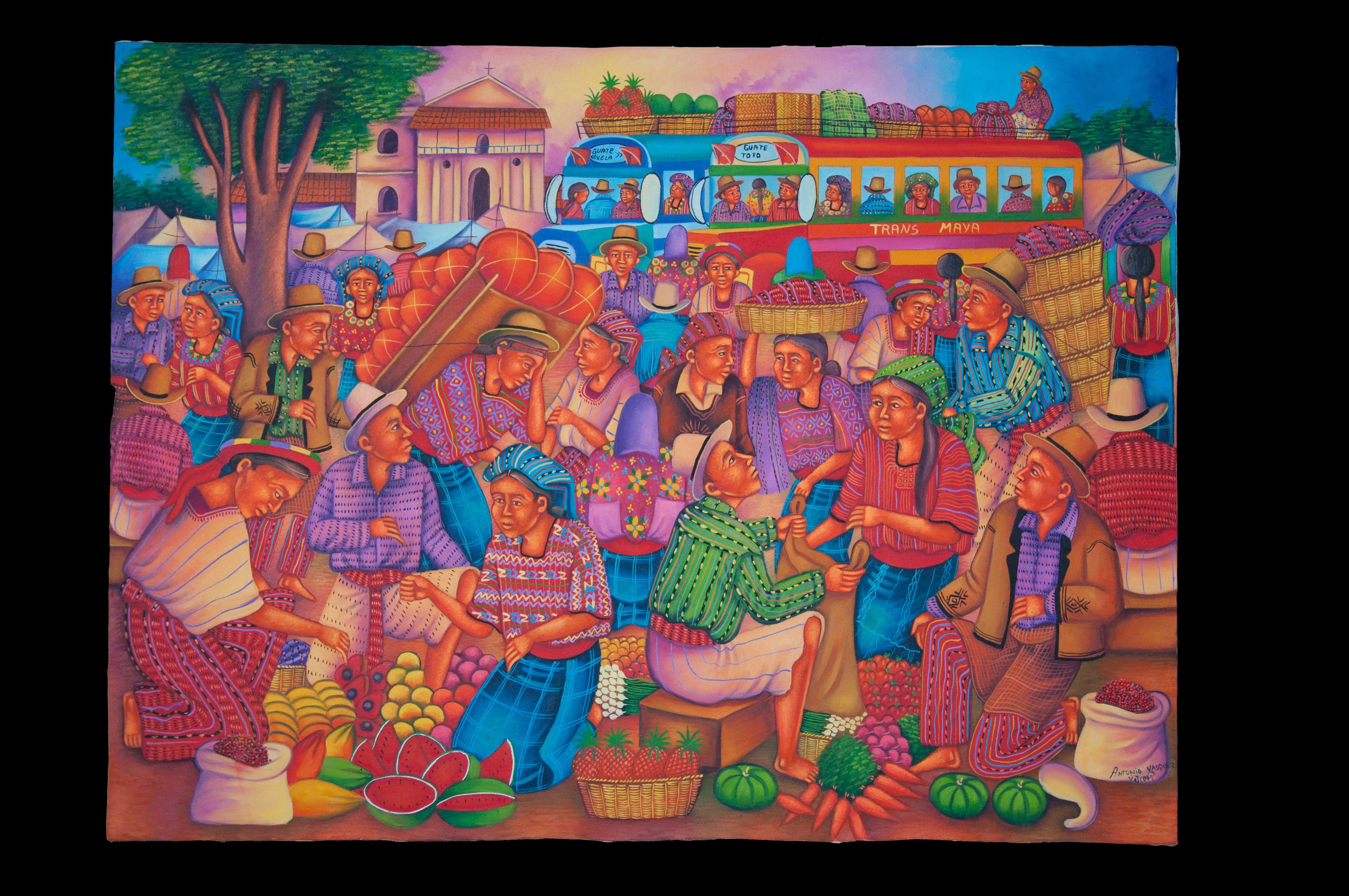 Self taught naif art painters from San Juan la Laguna, Lake Atitlán ...