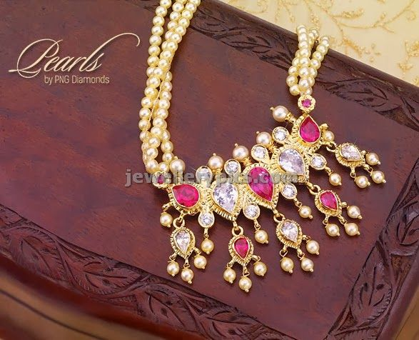 Tanmani In Pink Pearl Jewellery Traditional Maharashtrian