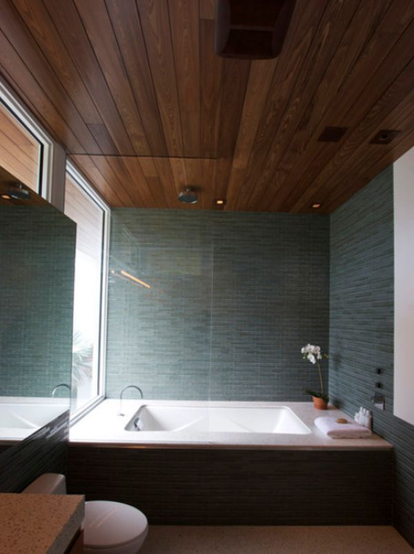 Bathroom Fixtures · Stylish Decors Featuring Warm, Rustic, Beautiful Wood  Ceilings