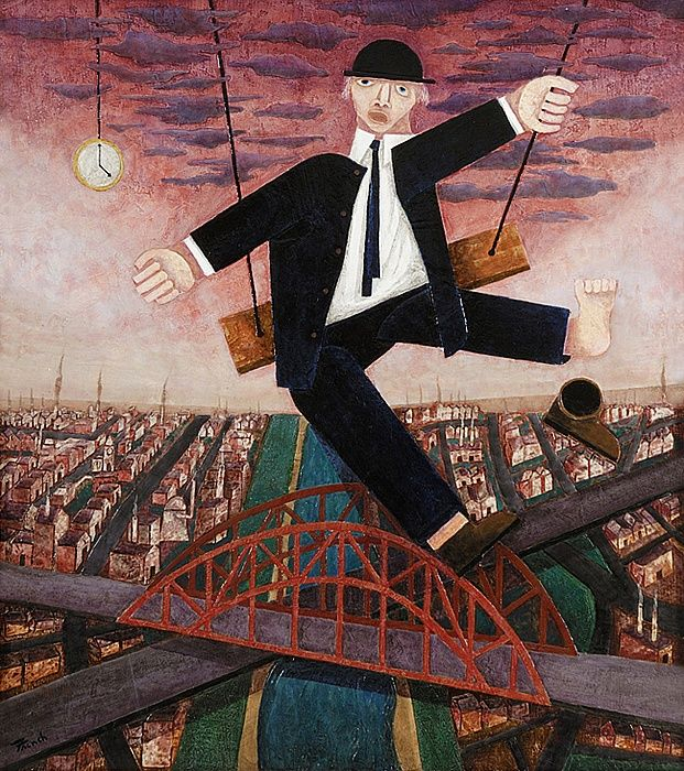 Leonard French Man On A Trapeze 1990s C