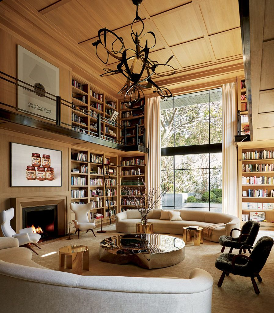 In the double-height library of Eugenio López\'s Mexico City house ...