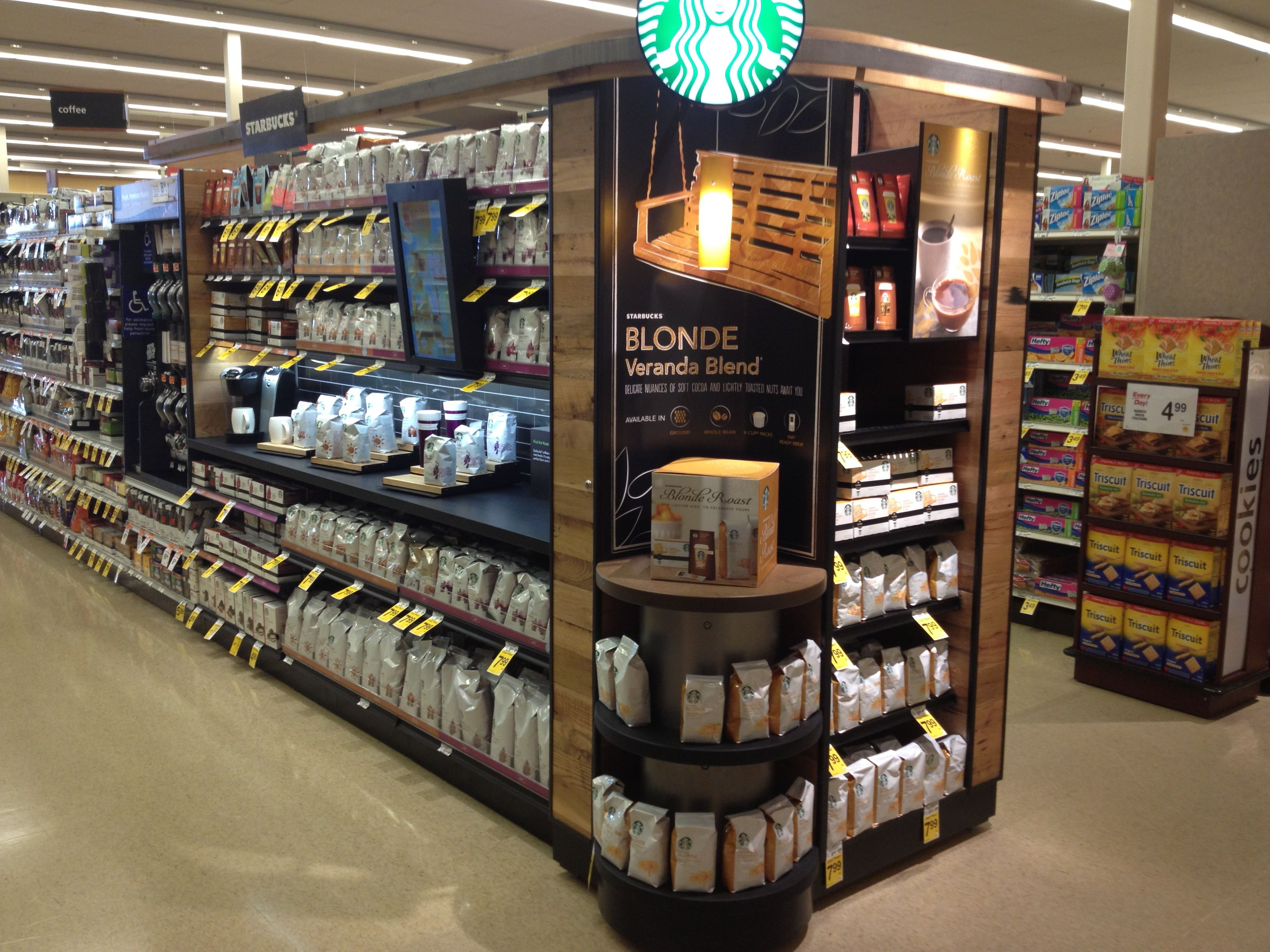 starbucks in store retail theatre interactive touch screen and countertop display