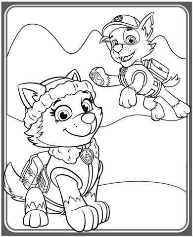 Free Coloring Pages Paw Patrol Rocky