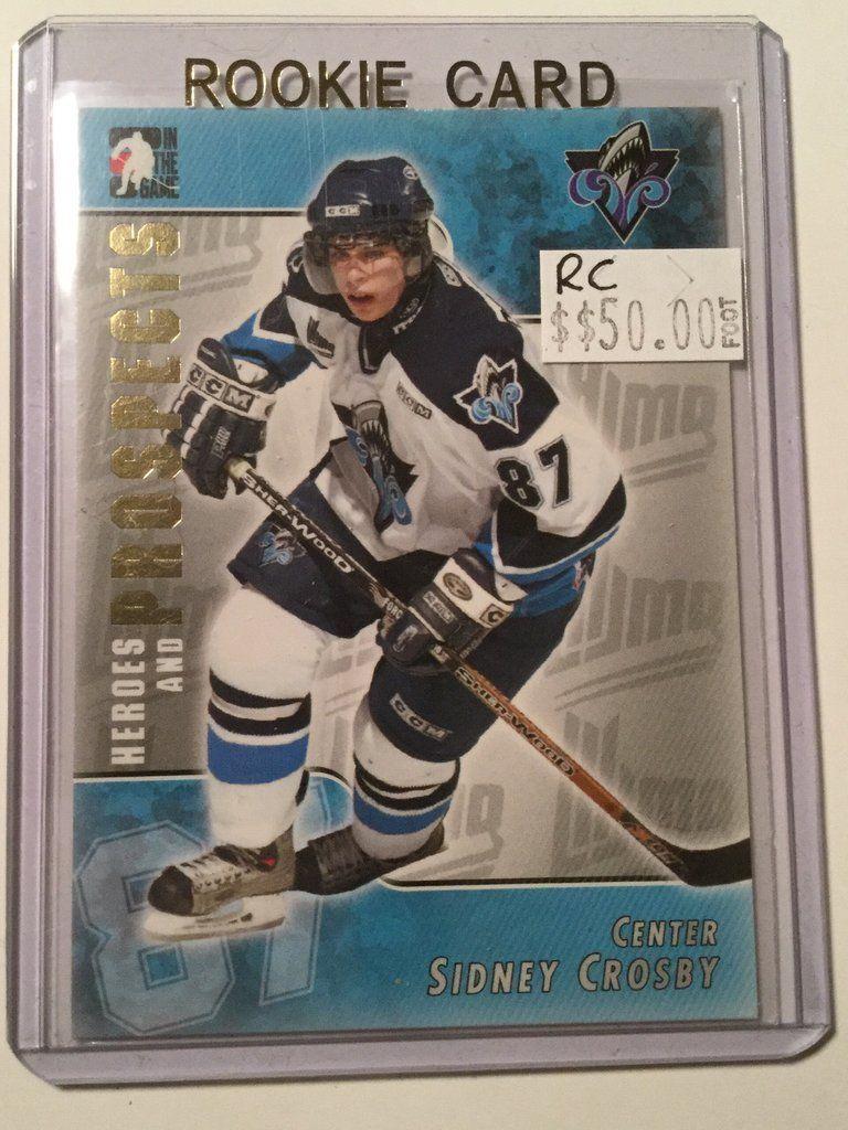 Sidney Crosby Prospect Hockey Rookie Card Hockey Hockey