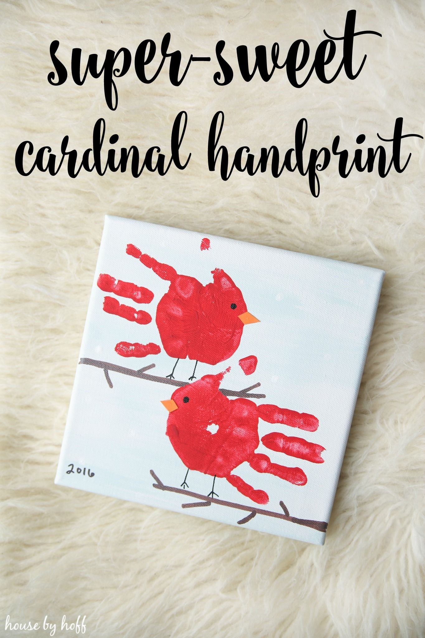 SuperSweet Cardinal Handprint Gift Projects to Try