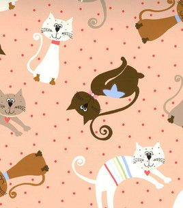 Novelty Quilt Fabric- Cats