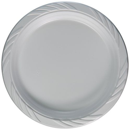 Blue Sky 100 Count Disposable Plastic Plates 9 Inch White Perfect For Breakfast And Lunch Entrees Medium Weight Plastic 100 Count Of Pl Kitchen Dispo