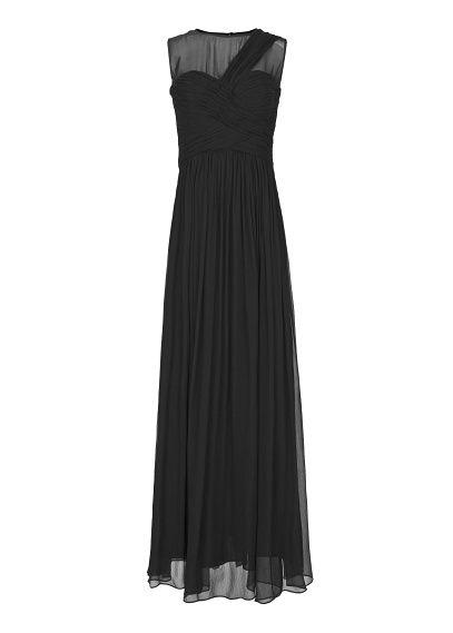 MANGO - Draped long silk dress