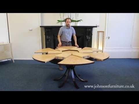 Johnson Furniture Rotating Expanding Table Circular Dining