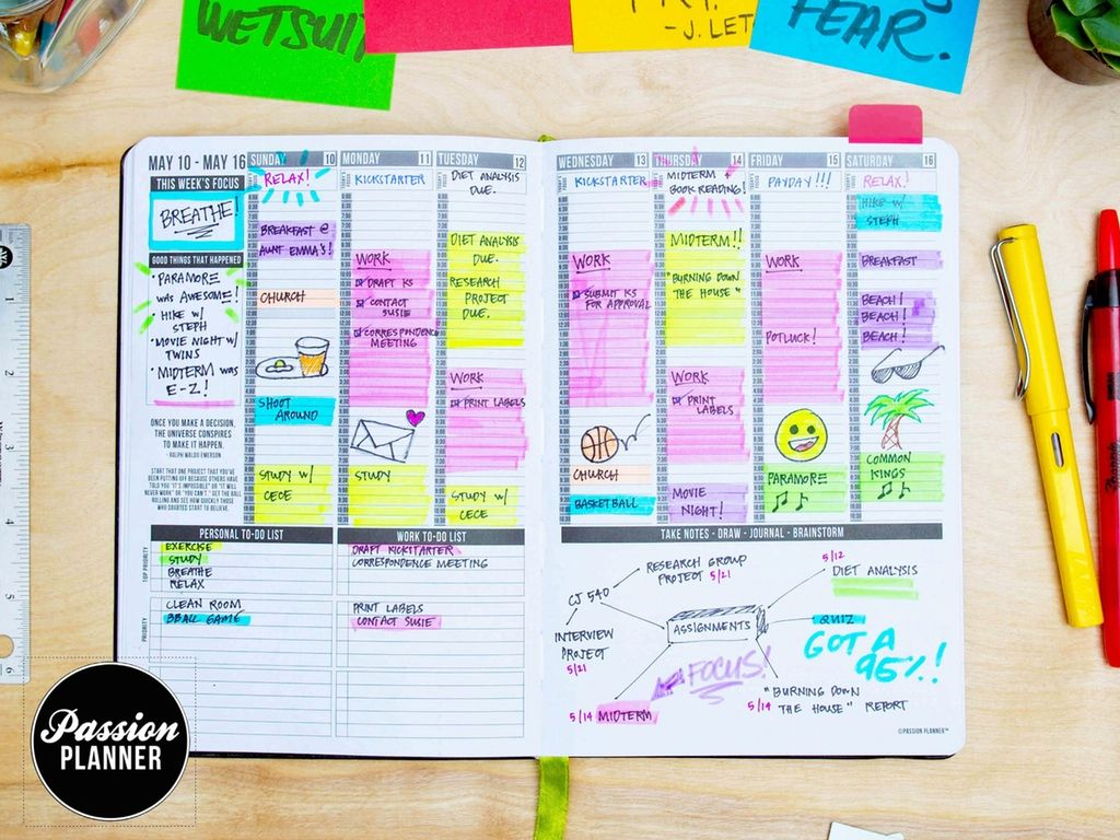 Kickstarter Calendar Planner : Reasons you should buy a passion planner