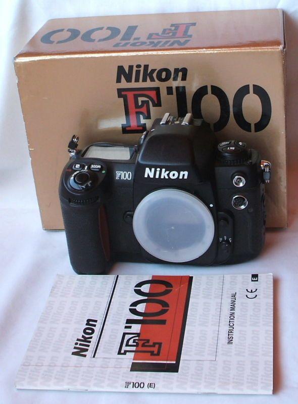 nikon f100 professional 35mm slr camera body in box w manual rh pinterest com Nikon Coolpix User Manual Nikon Binders