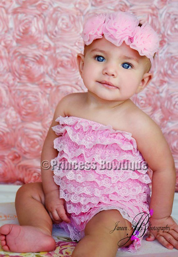 a209900ee22 Pink Baby Lace Romper No Straps