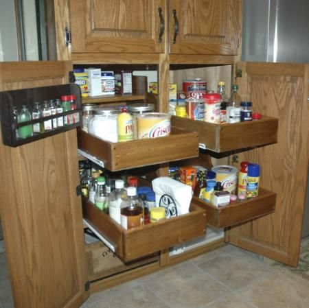 Pull Out Cabinet Drawers   DIY Projects