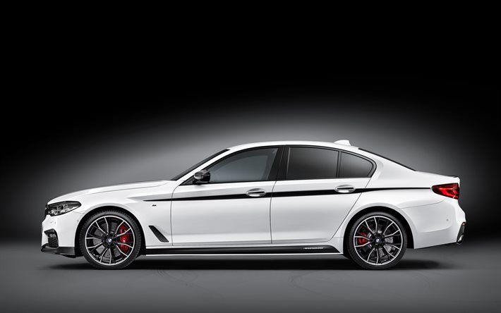 Download Wallpapers Bmw 5 Series New Cars 2017 Cars G30 White