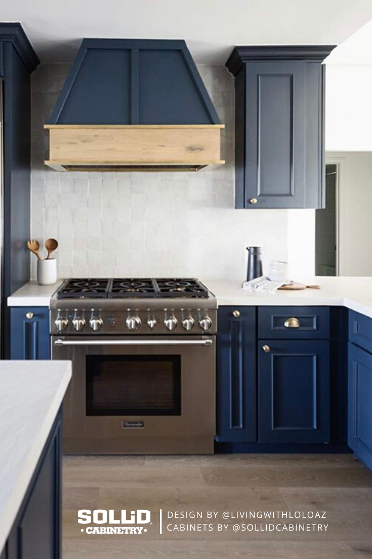 Navy Blue Kitchen In 2020 Custom Kitchen Cabinets Custom Kitchens Cabinet Inspiration