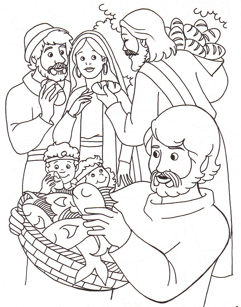 Free coloring pages jesus miracles - Lots Of Bible Coloring Book Pages On This Site
