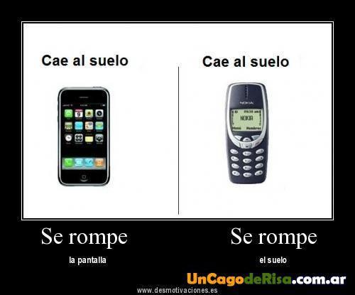 Diferencia Entre Nokia Y Iphone Imagenes Graciosas Cayendo Memes En Espanol