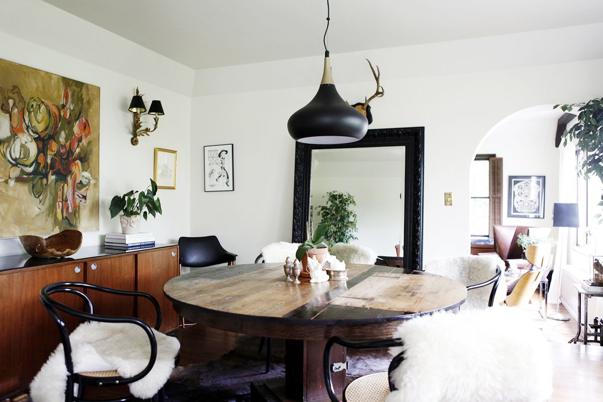 Tour the moody home of a seattle restaurateur dining spaces and