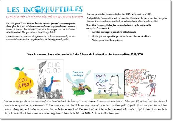 Les Incos 2019 2020 Selection Maternelle Clic Et Cloc Exploitation En Classe Maternelle Classe Lecture