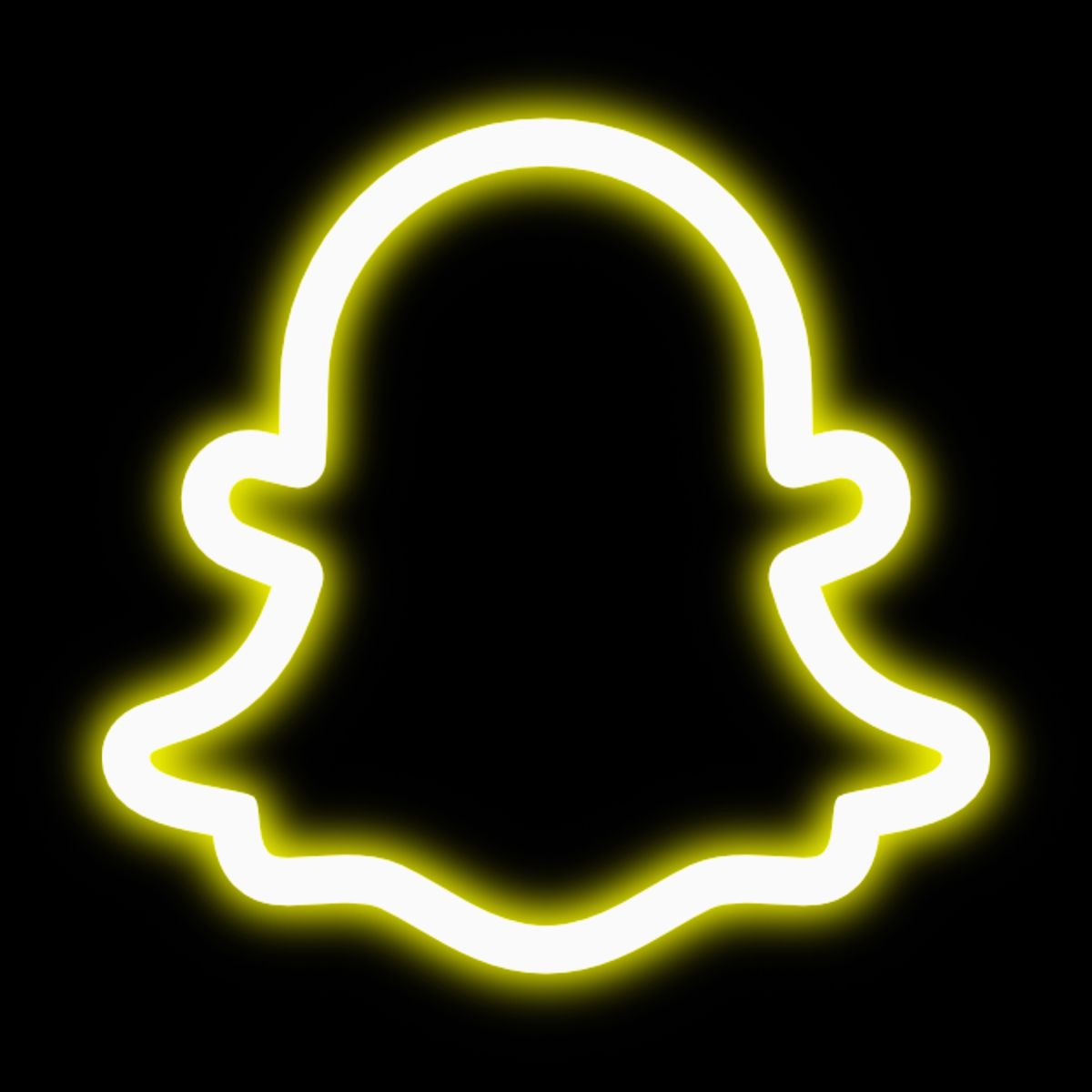 Snapchat neon icon   Wallpaper iphone neon, App icon ...