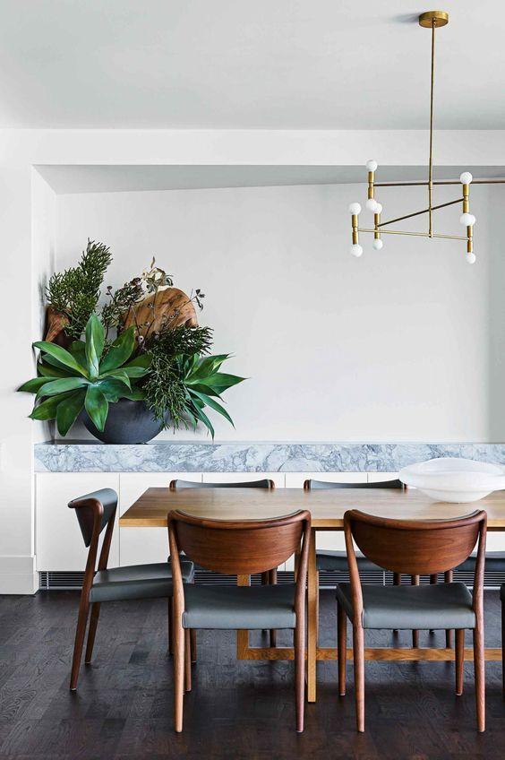 Ideas para decorar un comedor con plantas, decoracion de comedores ...