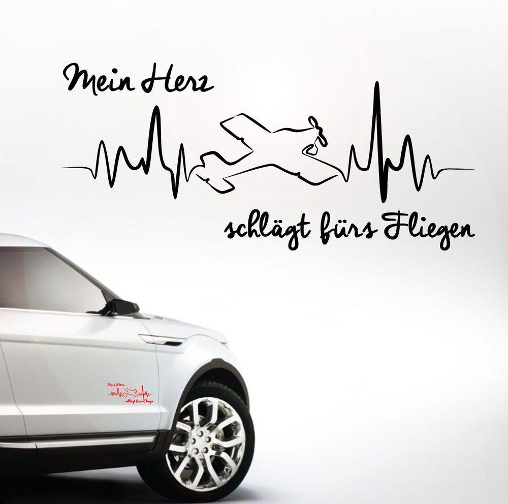 Aheart Auto Aufkleber Heartbeat Fliegen Mein Herz Flugzeug