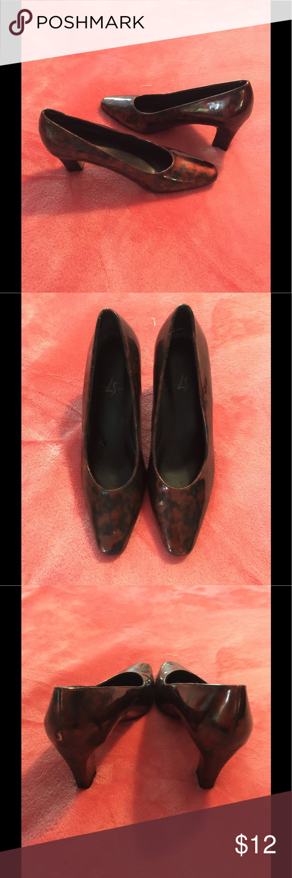 LifeStridesize 5.5 dress shoes Only worn a few times, beautiful LifeStride bronze and black kind of leopard print with 2.5 inch heel. Has a couple of scratches on heels but not really too noticeable when wearing. Shoes Heels