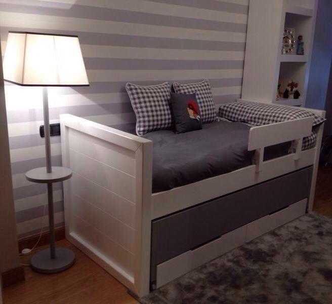 Cama nido doble compuesta por 2 cajones y con 2 camas for Precio cama nido doble con cajones