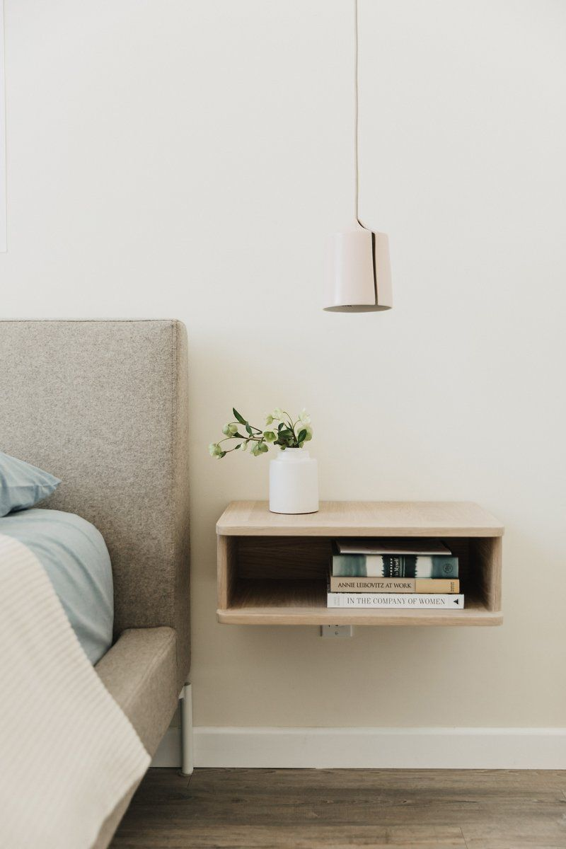 Best Pin By Mack Neary On Bedroom Floating Bedside Table 400 x 300