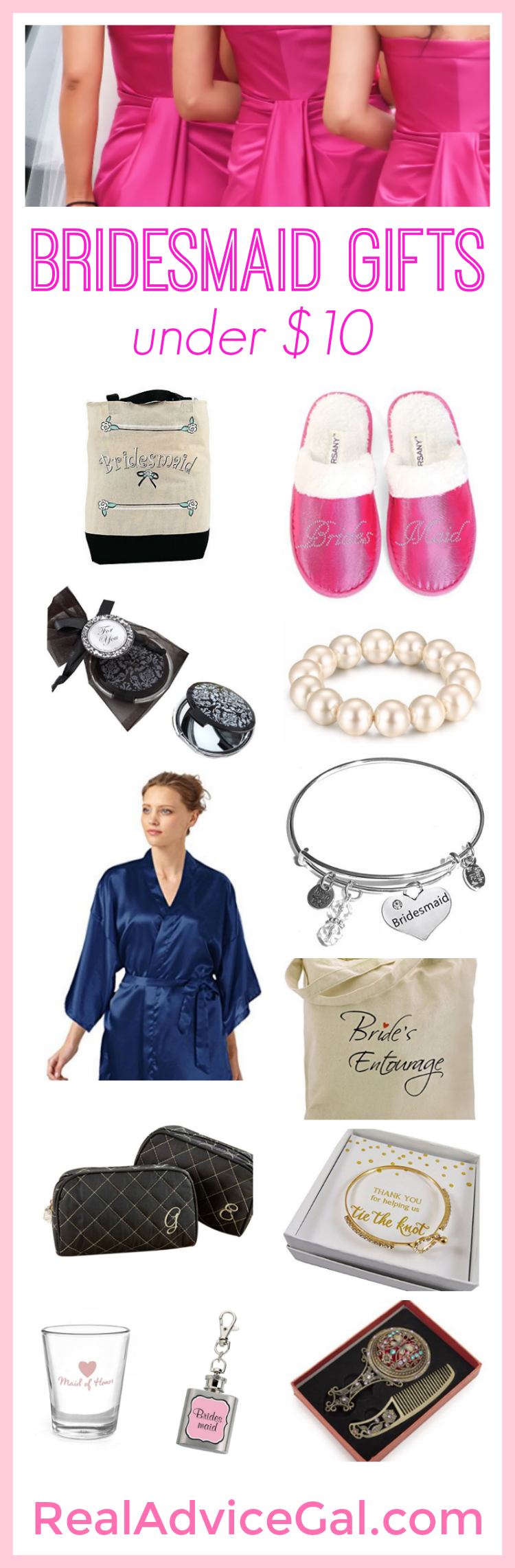 Pretty but affordable bridesmaid gifts under $10 that your friends will love