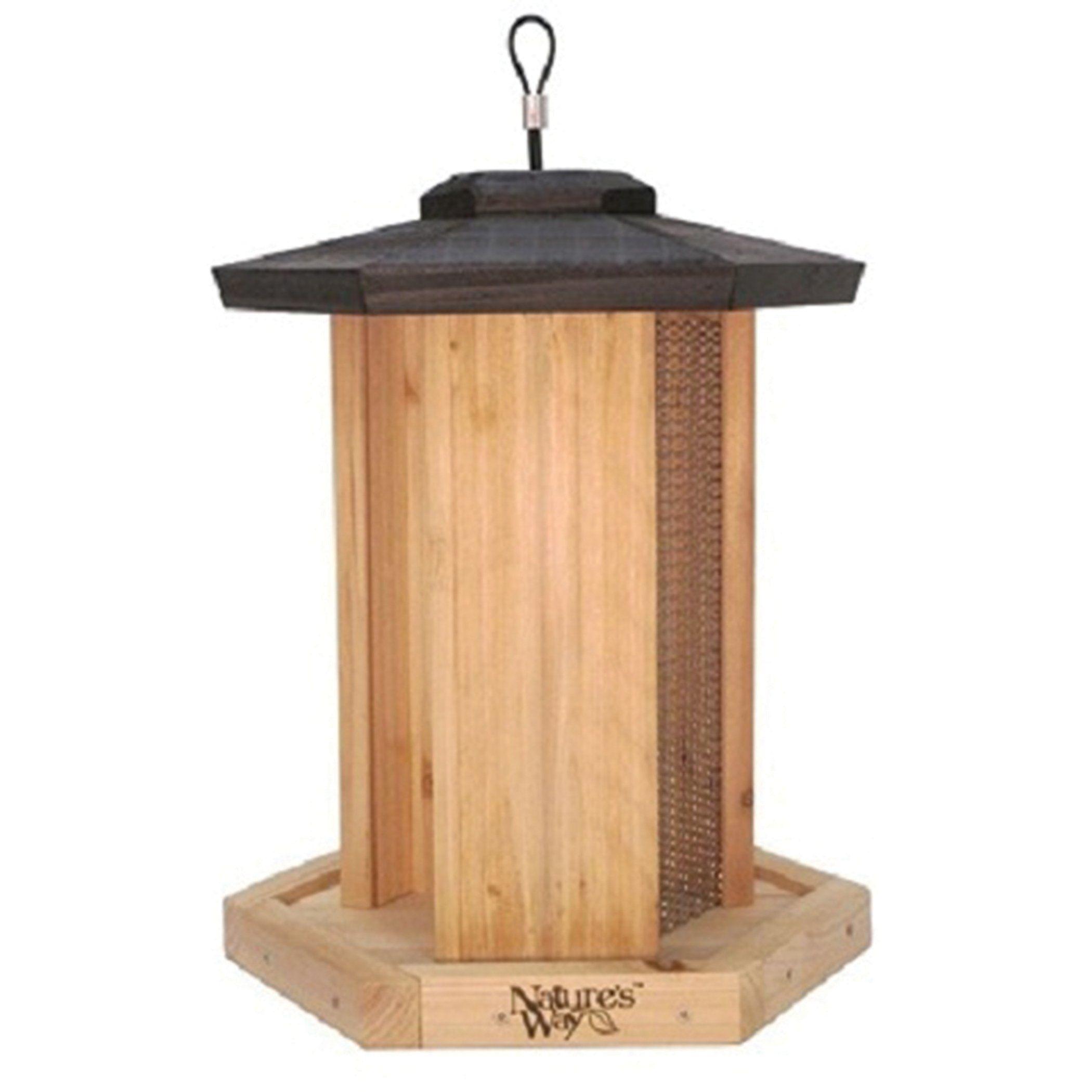 Natures Way Bird PrdtsTriple Chamber Gazebo Feeder Cedar