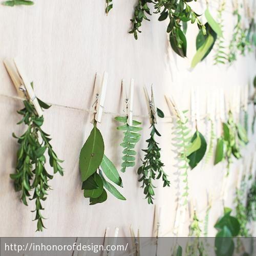 Wanddeko mit pflanzen schnur wanddeko und kr uter for Wanddeko pflanzen