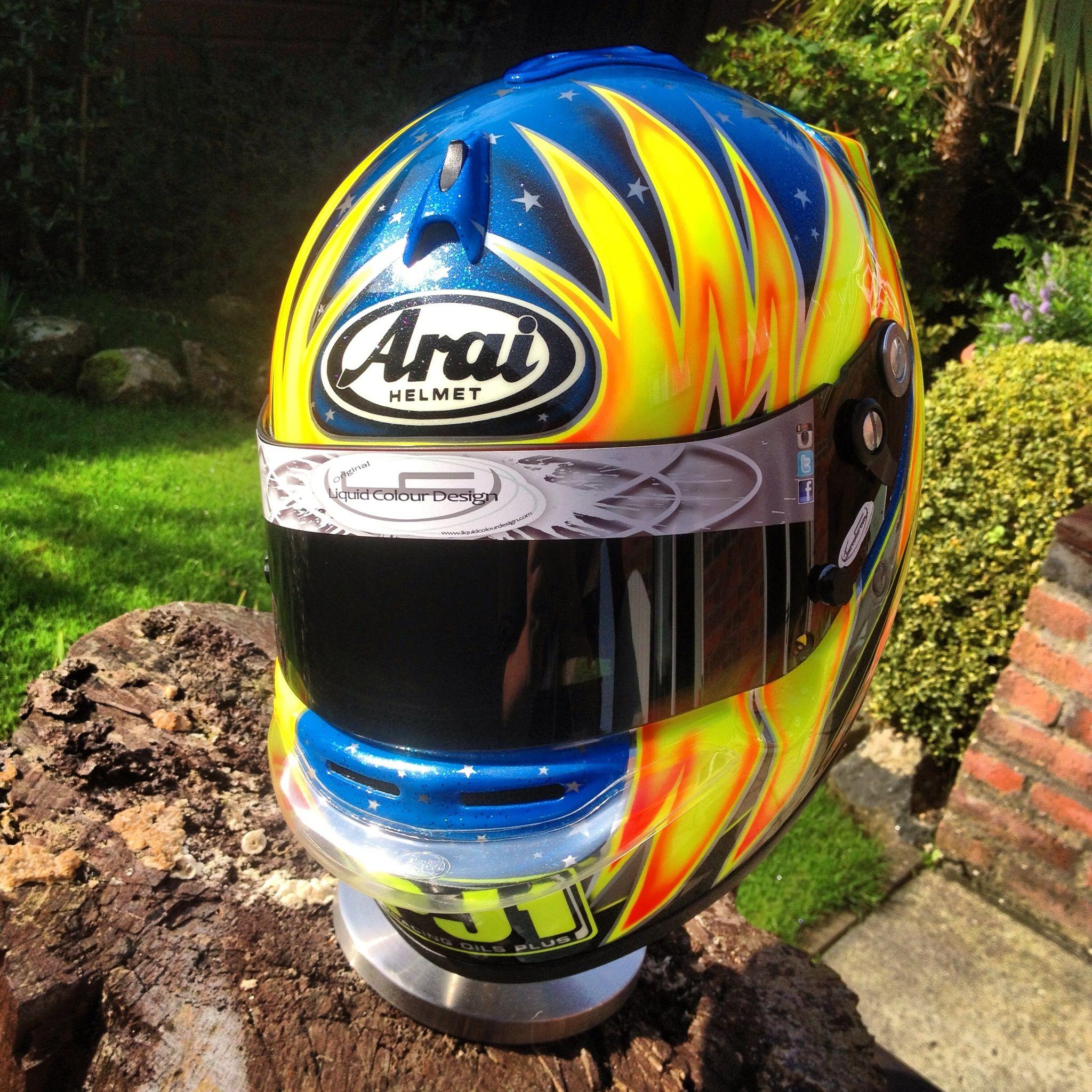 Style Of Flame Design Arai Karting Helmet