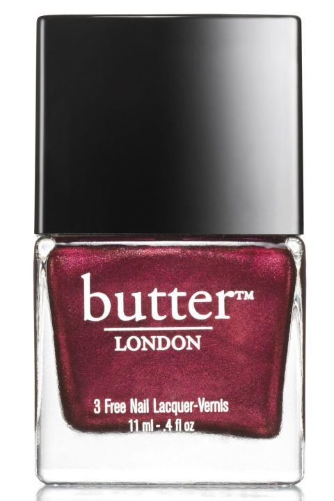Why we love it: Sapphire with hints of metallic specks instantly takes nails up a notch. Butter London Nail Lacquer in Rebel Fox (Double Take Fire Duo), $24 (for 2), butterlondon.com.