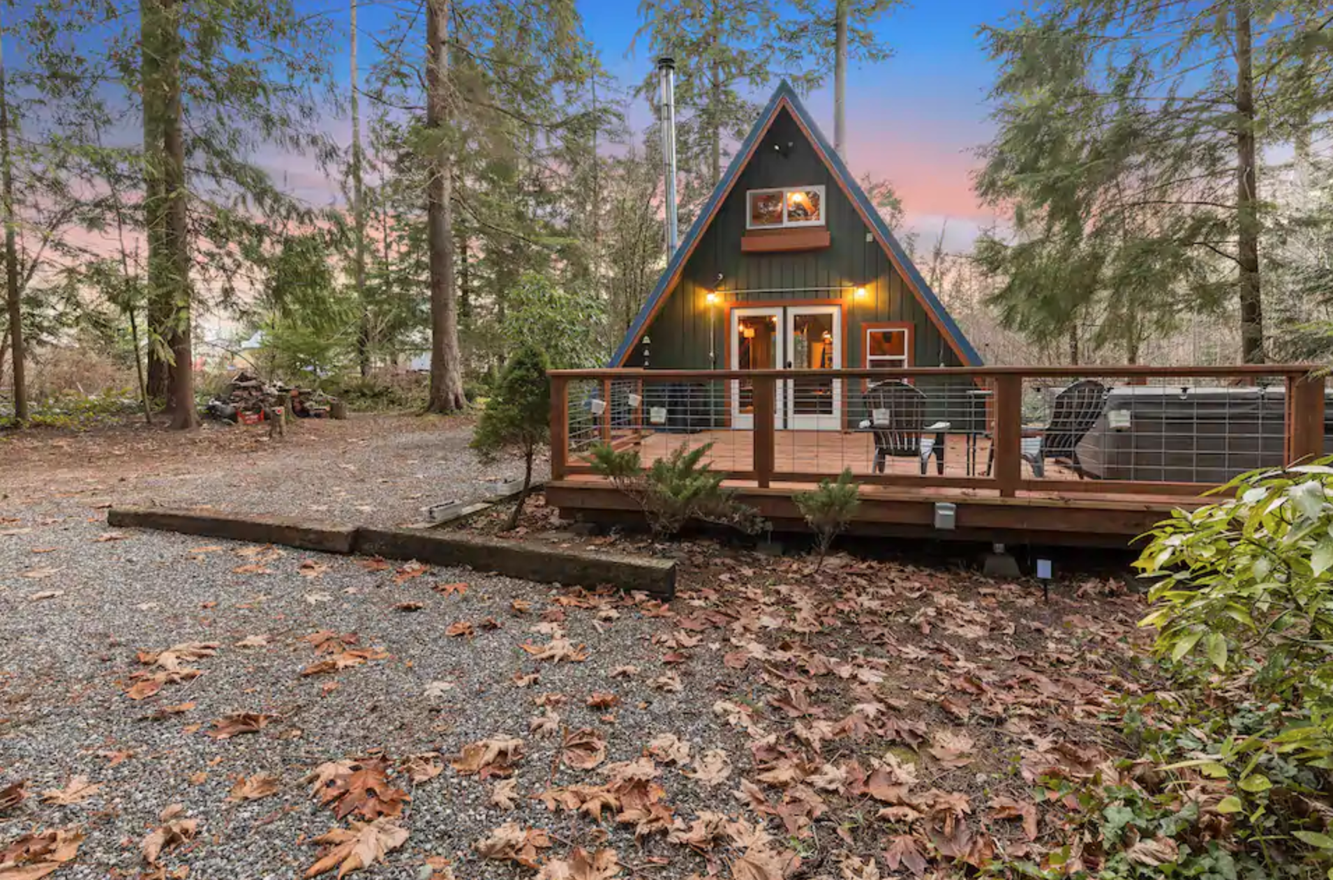 This Cozy A Frame Cabin Borders The Most Visited Forest In Washington A Frame Cabin Modern Lake House The Perfect Getaway