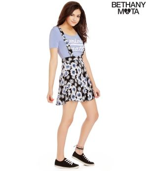 Floral Overall Skirt - Summer Bethany Mota Collection