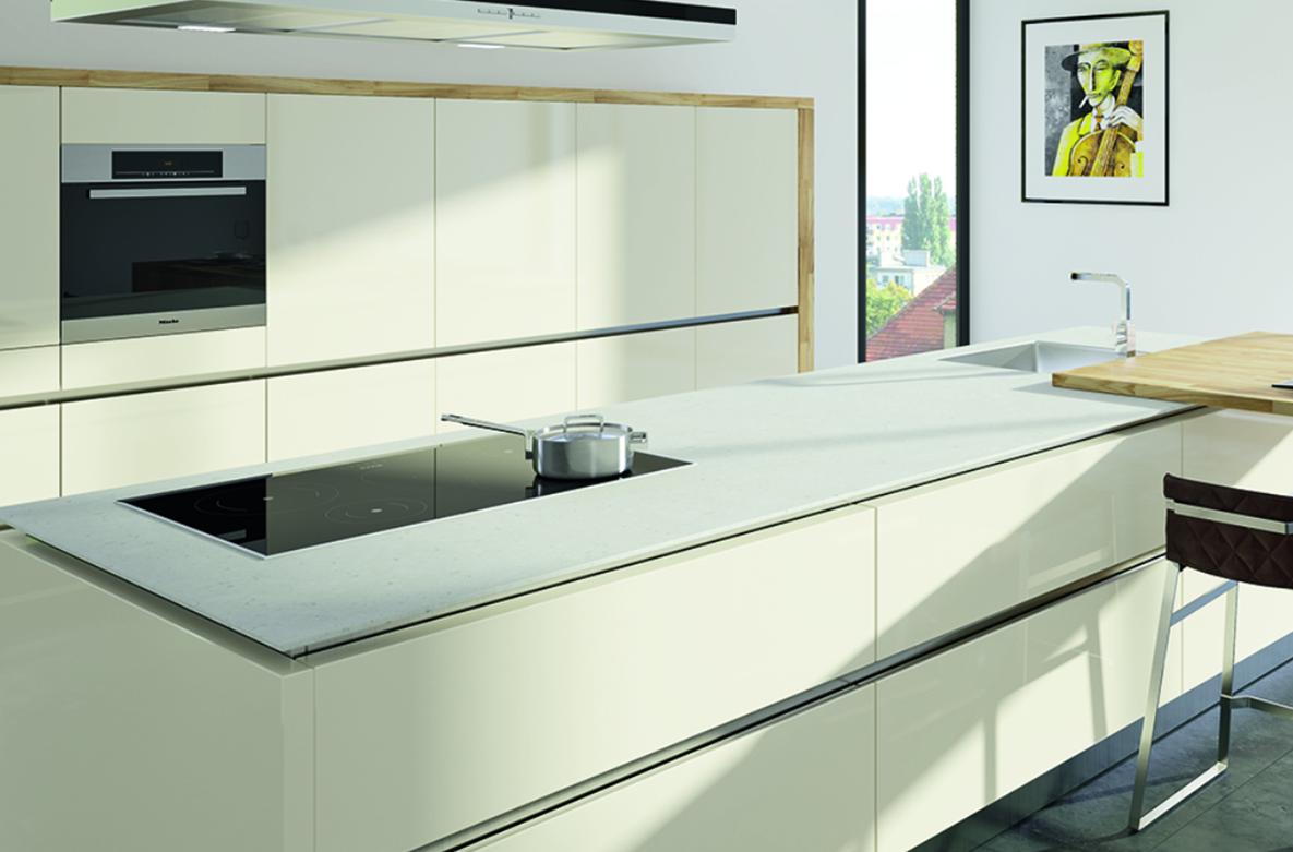 Küchenarbeitsplatte Arbeitsplatte Quarzstein, Dekor Brenta ...