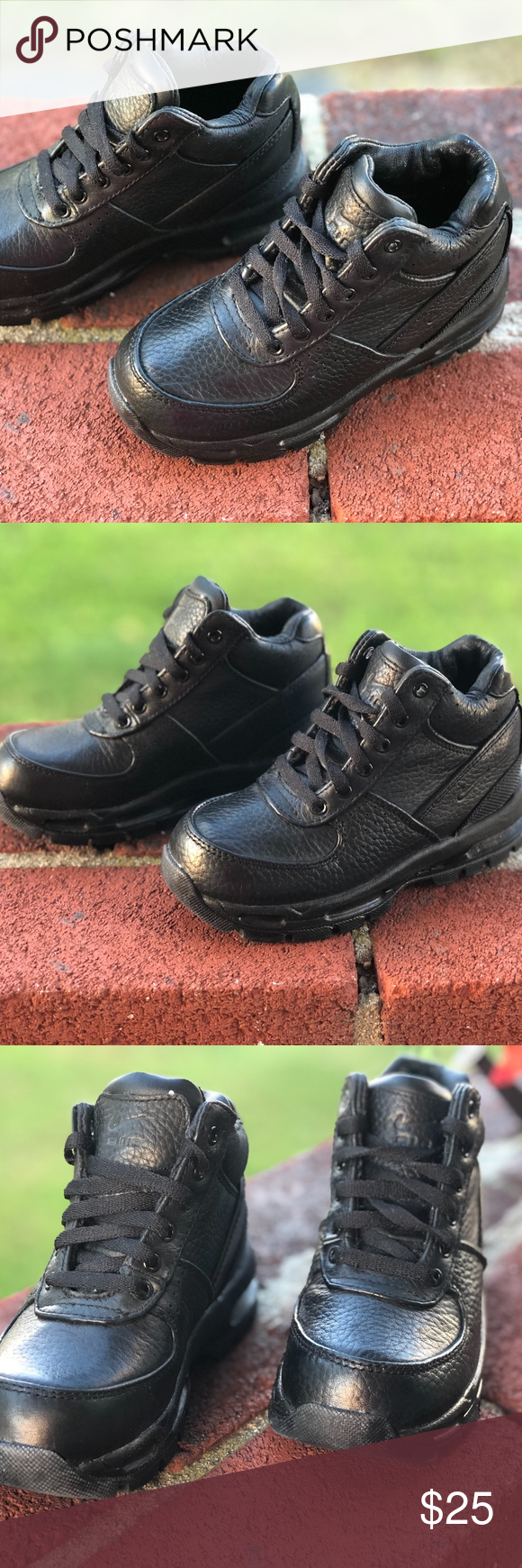wholesale dealer 83146 42957 Nike Air Max Goadome Boot Shoes Toddler Boys 10c B Like brand new! All  black waterproof leather Nike boots for kids. Worn a few times. Nike Shoes  Boots