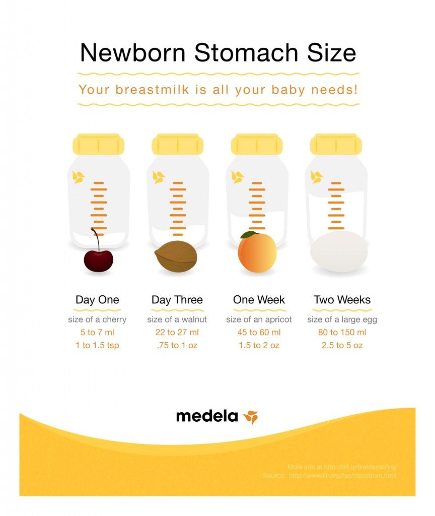 The Size Of Your Babys Stomach Breastfeeding In The -3055