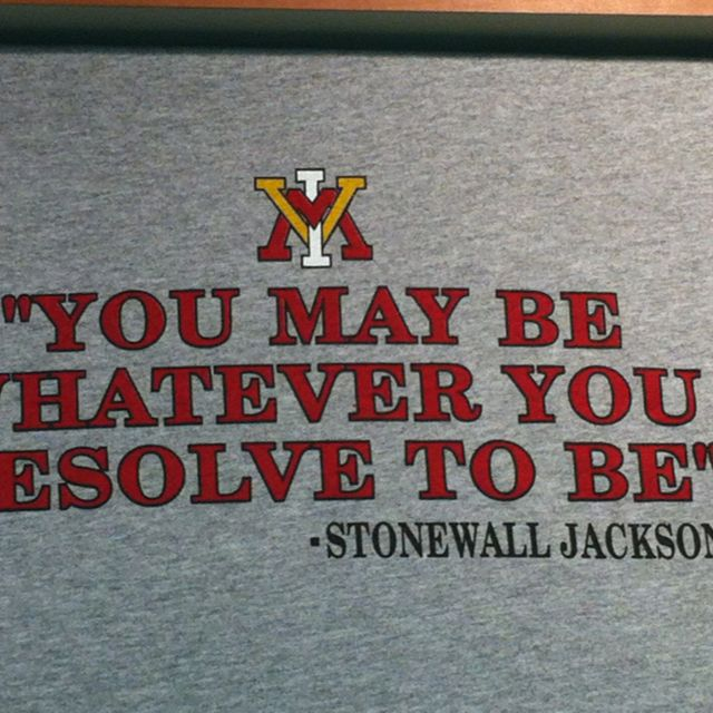 Great Quote By Stonewall Jackson On The Walls At Virginia