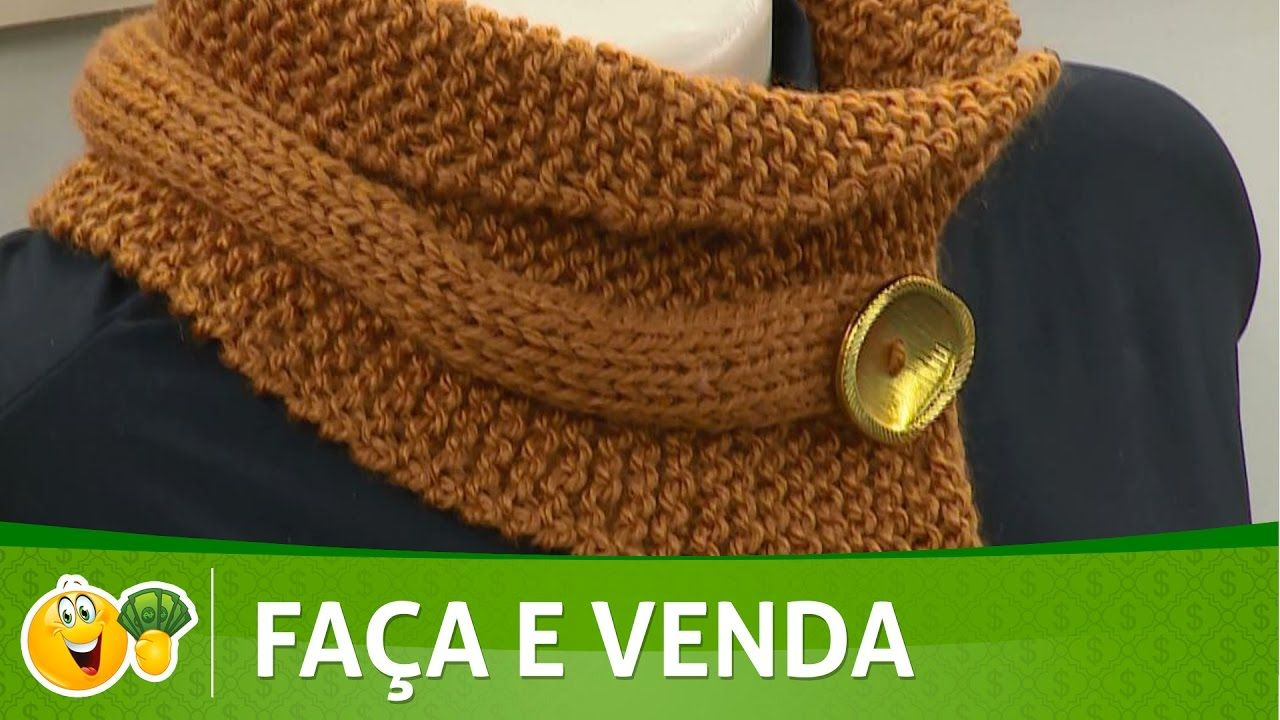 Vida com Arte   Gola fácil em tricô por Vitória Quintal - 17 de ...