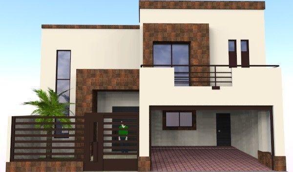 02 frente home pinterest for Fachadas de casas modernas en hermosillo