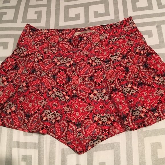 Forever 21 Shorts Multi-colored patterned flowy shorts, great for summer! Size small. Worn once. (Red/blue/orange/black) Forever 21 Shorts