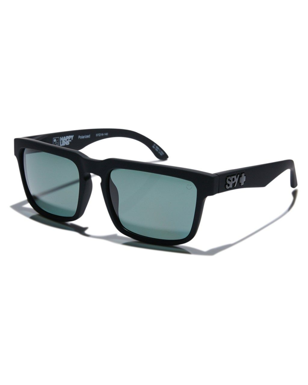 a75e7024f70 Spy Helm Happy Lens Polarised Sunglasses Matte Black Green Mens sunglasses  Size