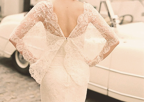 Lace cover-up this is such a romantic look