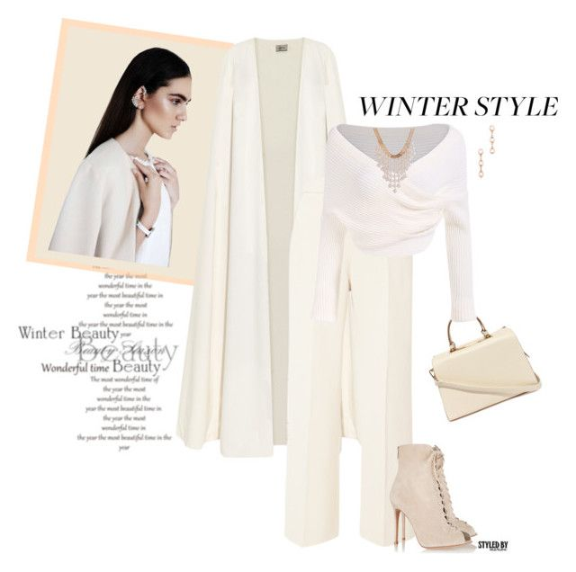 """""""Winter Beauty"""" by marion-fashionista-diva-miller ❤ liked on Polyvore featuring La Mania, Delpozo, Gianvito Rossi, Nila Anthony, Elsa Peretti, women's clothing, women's fashion, women, female and woman"""