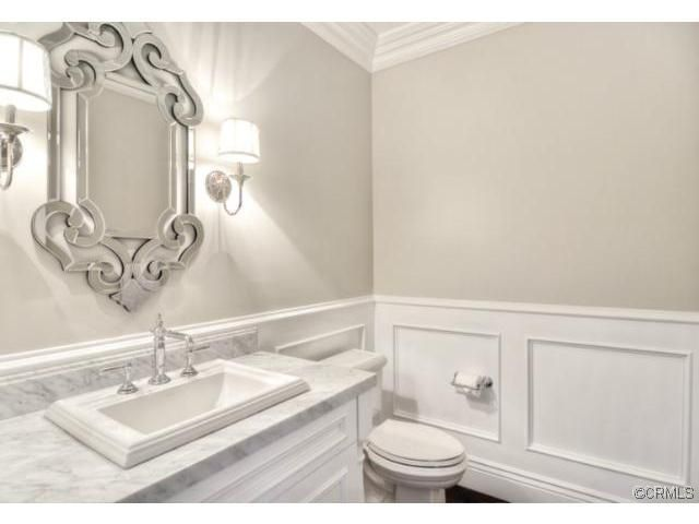 Traditional Powder Room - Come find more on Zillow Digs! Same color scheme throughtout