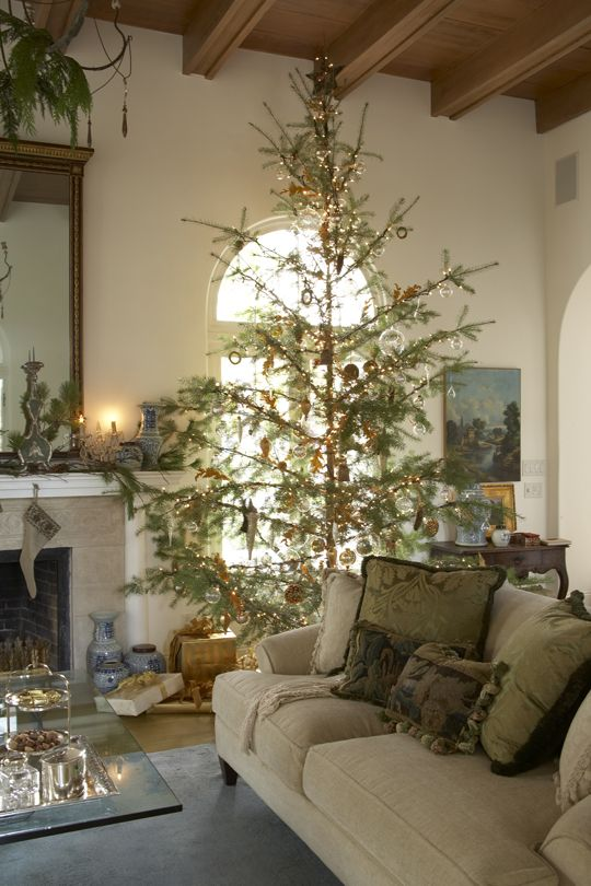Sparse Christmas Tree Decorating.Since We Cut Down Our Own Trees They Are Always Sparse Like